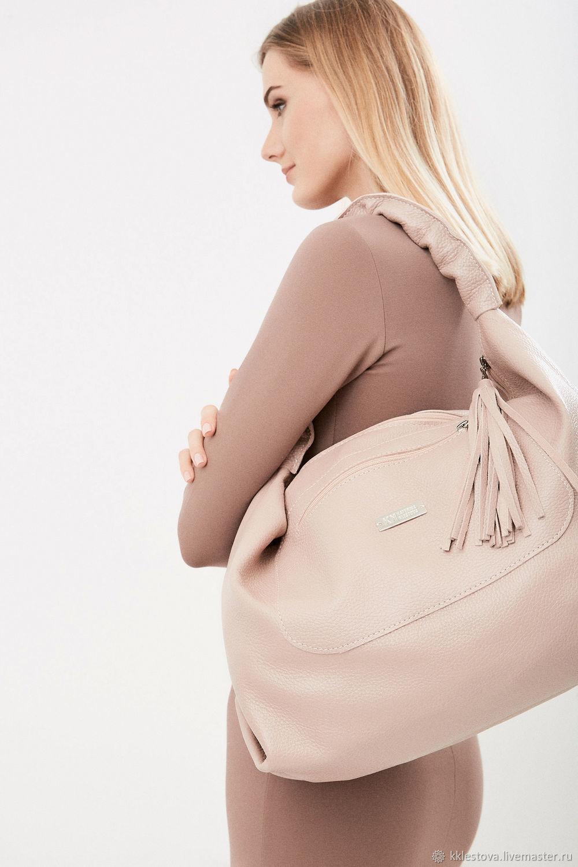 Online Handbags handmade. Order Pink Bag Hobo Bag Duffel Shopper Ash Rose  Powder. BagsByKaterinaKlestova. 2a603e0bb6837