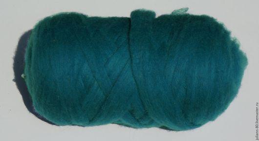 Валяние ручной работы. Ярмарка Мастеров - ручная работа. Купить Цветная карачаевская шерсть для валяния, цвет светло-синий.. Handmade.