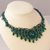 Украшения handmade. Livemaster - original item Emerald lace Choker handmade tatting e. Handmade.