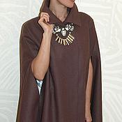 Одежда ручной работы. Ярмарка Мастеров - ручная работа Пальто кейп  из шерсти на вискозной подкладке. Handmade.