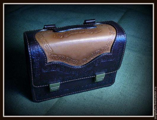 Мужские сумки ручной работы. Ярмарка Мастеров - ручная работа. Купить Сумка мужская. Handmade. Коричневый, натуральная кожа