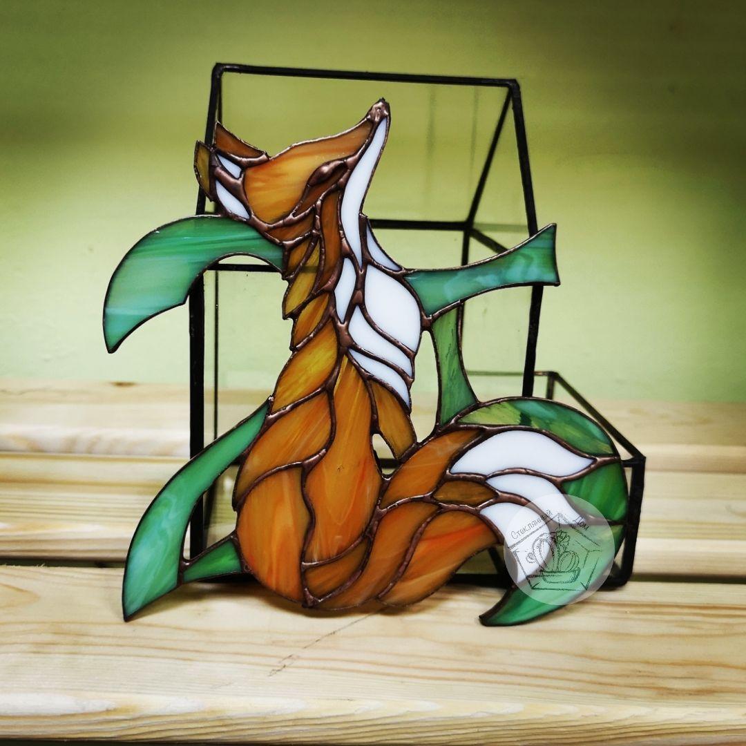 Картинка лисы на стекло