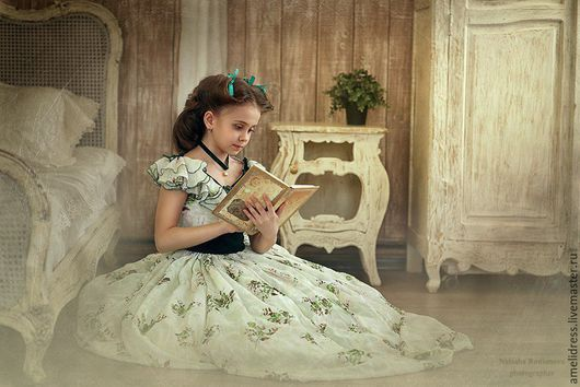 Одежда для девочек, ручной работы. Ярмарка Мастеров - ручная работа. Купить Платье Скарлетт. Handmade. Тёмно-зелёный, историческое платье