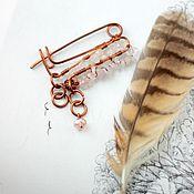 Украшения handmade. Livemaster - original item Brooch for shawl Keeper, earrings, boho style. Handmade.
