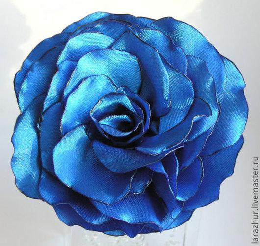 Броши ручной работы. Ярмарка Мастеров - ручная работа. Купить Брошь роза. Handmade. Цветы из ткани, роза для прически
