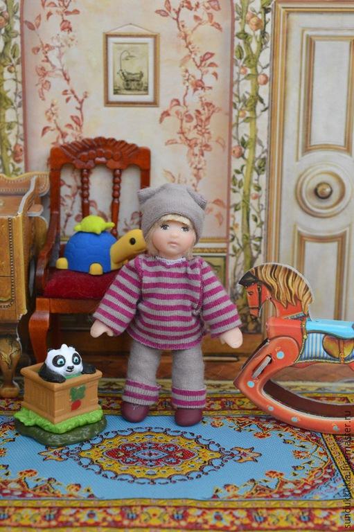 Коллекционные куклы ручной работы. Ярмарка Мастеров - ручная работа. Купить Кукла миниатюрная 7см.. Handmade. Авторская кукла, подарок