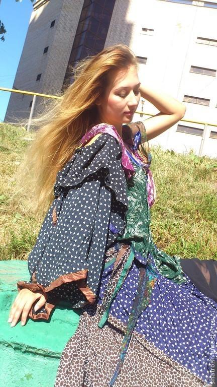 Платья ручной работы. Ярмарка Мастеров - ручная работа. Купить платье ВИНТАЖНОЕ. Handmade. Абстрактный, платье для выпускного
