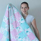 Для дома и интерьера ручной работы. Ярмарка Мастеров - ручная работа Лоскутное одеяло Слоны. Handmade.