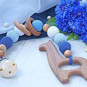 Куклы и игрушки handmade. Livemaster - original item Teething toy, teething toy-teether clip on