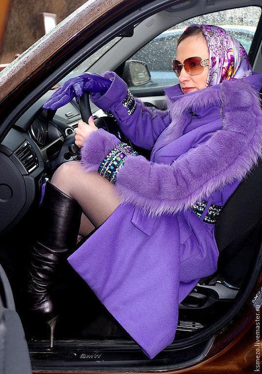 """Верхняя одежда ручной работы. Ярмарка Мастеров - ручная работа. Купить Пальто """"Лилу""""  зимнее норка+песец.. Handmade. Шикарное пальто"""