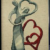 """Картины и панно ручной работы. Ярмарка Мастеров - ручная работа Оберег на свадьбу """"Вечная любовь""""(вышивка крестом). Handmade."""
