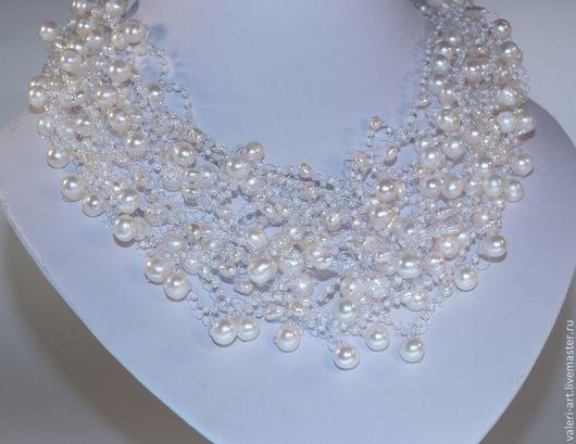 Бусы, колье из жемчуга ювелирные украшения, украшения своими руками и ювелирные изделия из драгоценного камня жемчуг