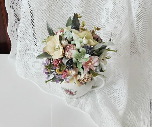 Свадебные цветы ручной работы. Ярмарка Мастеров - ручная работа. Купить Букет невесты в пастельных тонах. Handmade. Аксессуары для фотосессий