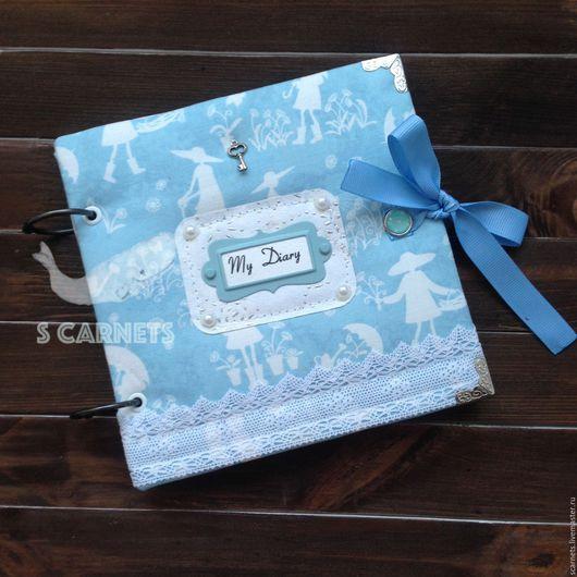 """Блокноты ручной работы. Ярмарка Мастеров - ручная работа. Купить Блокнот """"Дачница"""". Handmade. Голубой, блокнот в подарок, подарок девушке"""