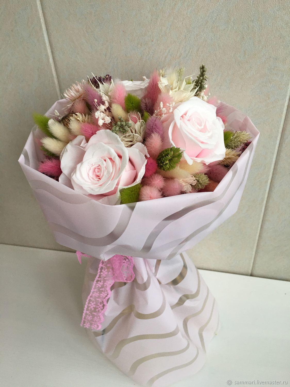 Розовые розы, Букеты, Москва,  Фото №1