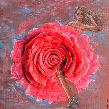 """Картины и панно ручной работы. Ярмарка Мастеров - ручная работа Объемная картина """"Розы..страстный танец"""". Handmade."""
