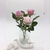 Цветы ручной работы. Ярмарка Мастеров - ручная работа Цветы: Розыы сорта Мемори Лейн из холодного фарфора. Handmade.