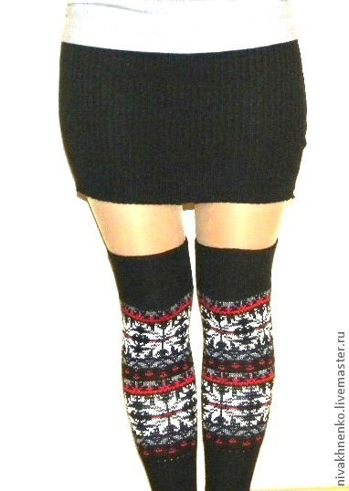 Socks & Stockings handmade. Livemaster - handmade. Buy Knitted leg warmers with Norwegian pattern.Author's knitwear, wool