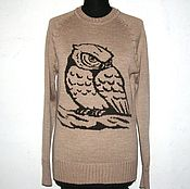 Одежда ручной работы. Ярмарка Мастеров - ручная работа Джемпер с вышивкой. Сова. Handmade.