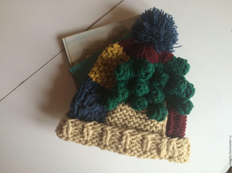 Шапка женская - вязаная шапка с помпоном. Шапка ручной ...