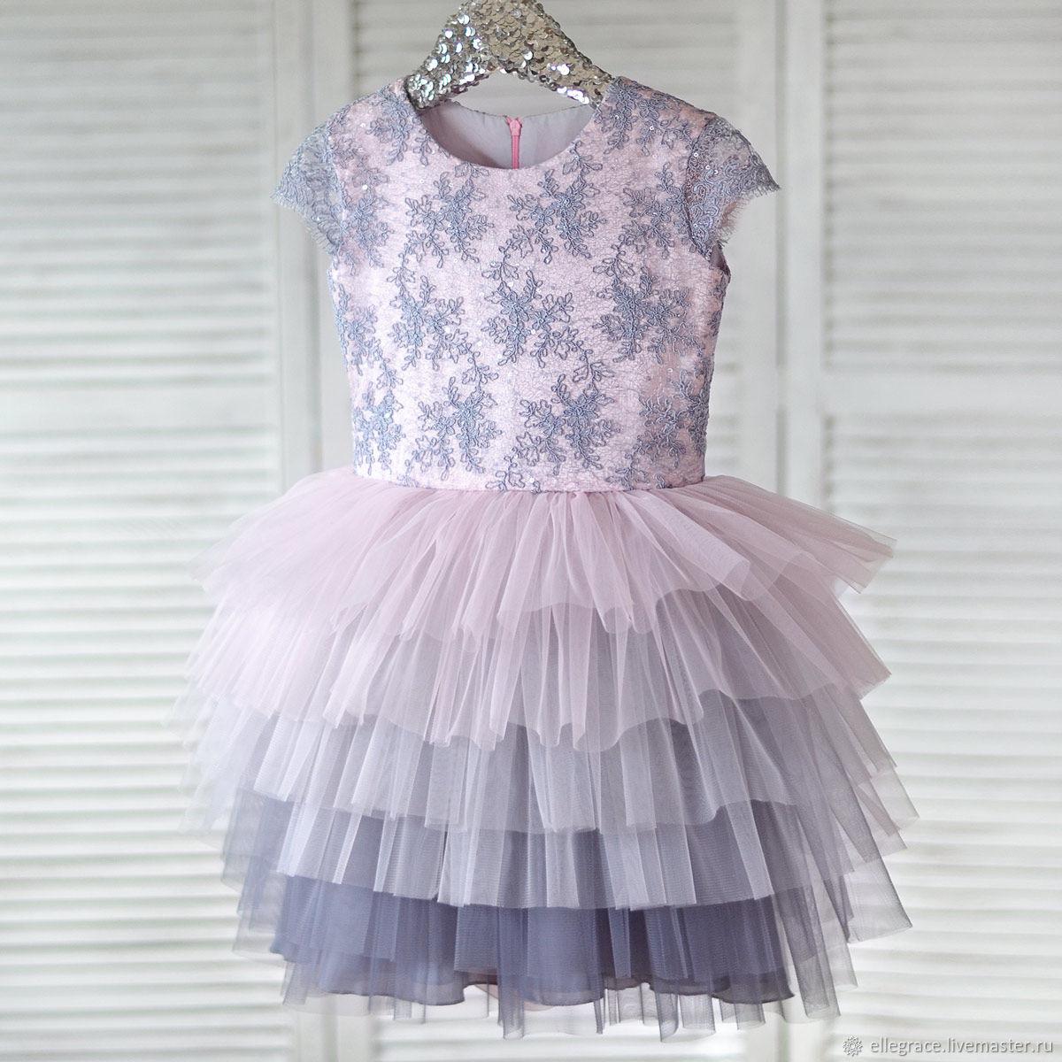 """Платье из фатина """"Серый кварц"""""""