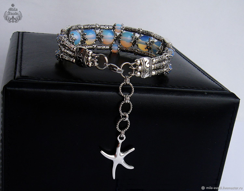 611ccc1814 Order handmade bracelet Opalite Shambhala Tibetan. Exclusive jewelry  (mila-avadi Bracelets ...