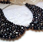 Украшения handmade. Livemaster - original item Necklace-collar of black pearls. Handmade.