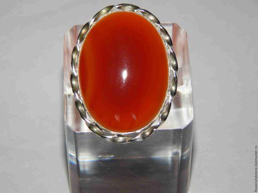 """Кольца ручной работы. Ярмарка Мастеров - ручная работа. Купить Кольца """"Оранжевое солнце"""" из сердолика. Handmade. Комбинированный, сердолик натуральный"""