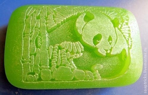 Мыло ручной работы. Ярмарка Мастеров - ручная работа. Купить Мыло Панда. Handmade. Ярко-зелёный, подарок для женщины