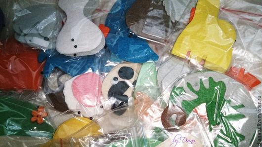 Развивающие игрушки ручной работы. Ярмарка Мастеров - ручная работа. Купить Животные. Набор заготовок-2. Handmade. Алфавит из фетра
