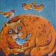 Животные ручной работы. Ярмарка Мастеров - ручная работа. Купить Счастье - есть!. Handmade. Рыжий кот, птица счастья, шутка