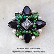 Украшения handmade. Livemaster - original item Brooch-the order of Noble emerald. Handmade.