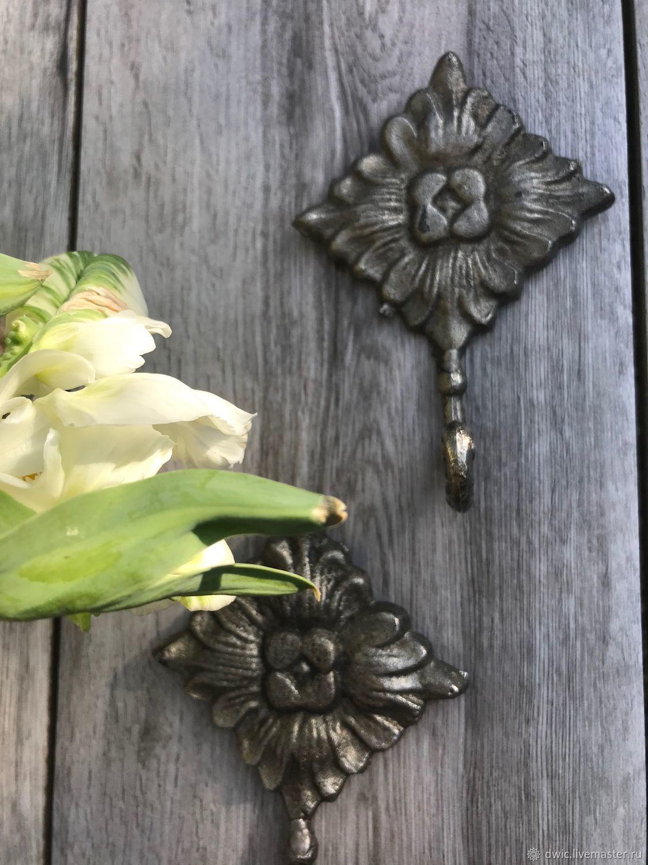 Hooks 'Flowers', handmade, Holland, Vintage interior, Arnhem,  Фото №1