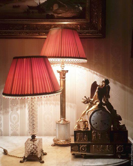 Освещение ручной работы. Ярмарка Мастеров - ручная работа. Купить лампа настольная кабинетная. Handmade. Оранжевый, лампа ручной работы