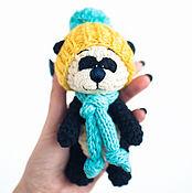 Куклы и игрушки ручной работы. Ярмарка Мастеров - ручная работа Малыш Панда в желтой шапочке. Handmade.