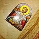Иконы ручной работы. святой Александр Невский финифть. павлова ира (rostov76). Ярмарка Мастеров. Икона в миниатюре, подарок на крещение