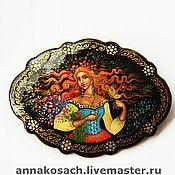 Украшения handmade. Livemaster - original item the brooch with the author`s painting