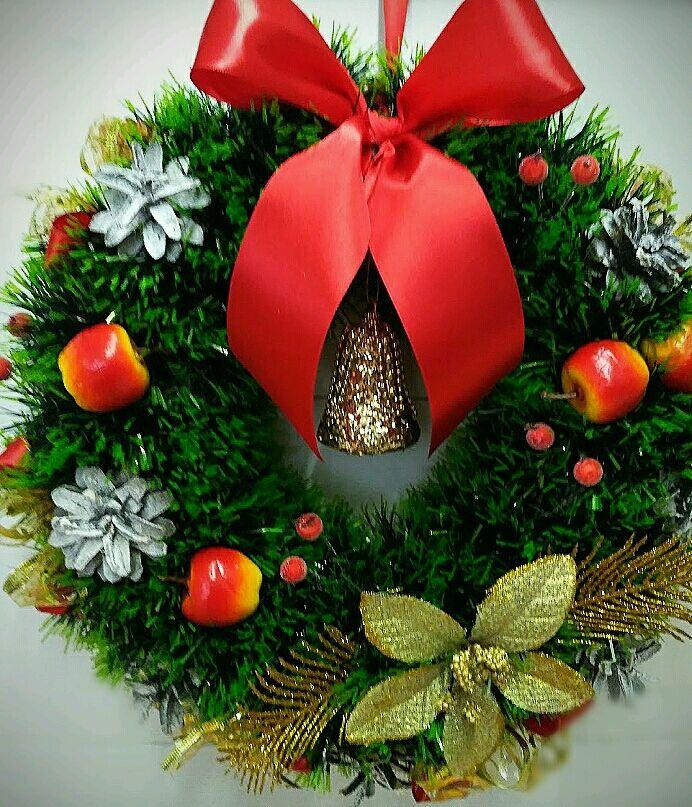 Венок рождественский. Новогоднее украшение, подарок, сюрприз, Композиции, Волгоград,  Фото №1