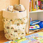 Корзины ручной работы. Ярмарка Мастеров - ручная работа Текстильная корзина для игрушек. Handmade.