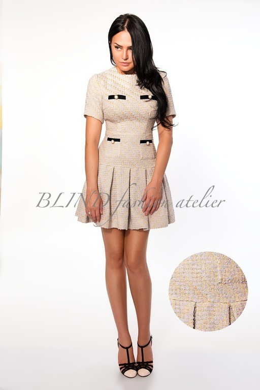 Платья ручной работы. Ярмарка Мастеров - ручная работа. Купить Платье из твида 00087. Handmade. Бежевый, платье, blind