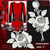 Материалы для творчества handmade. Livemaster - original item Bright roses. Rose 2 (applique).. Handmade.