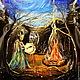 Этно ручной работы. картина маслом ШАМАН. Юлия-Yulitaya. Интернет-магазин Ярмарка Мастеров. Картина маслом, лес