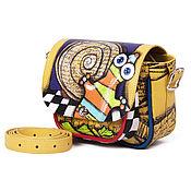 """Классическая сумка ручной работы. Ярмарка Мастеров - ручная работа Сатчел """"Этно Ящерица"""". Handmade."""