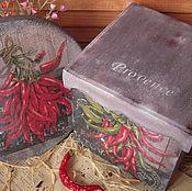"""Для дома и интерьера ручной работы. Ярмарка Мастеров - ручная работа """"Перчинка"""" - набор для кухни. Handmade."""