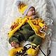 """Одежда ручной работы. Ярмарка Мастеров - ручная работа. Купить Комплект """"Гномик из Баварии"""". Handmade. Для новорожденного, куртка с капюшоном"""