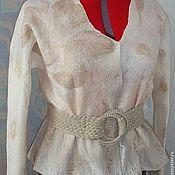 Одежда handmade. Livemaster - original item Wool jacket with Baked milk. Handmade.