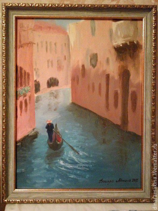 Город ручной работы. Ярмарка Мастеров - ручная работа. Купить Венеция. Handmade. Комбинированный, италия, венеция, солнечная картина, солнечная