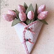 Цветы и флористика ручной работы. Ярмарка Мастеров - ручная работа Конверт с тюльпанами. Handmade.