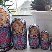 """Русский стиль handmade. Livemaster - original item matryoshka """"BROODING"""" 5M. Handmade."""