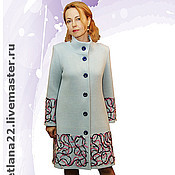 "Одежда handmade. Livemaster - original item Knitted coat ""Sky blue"". Handmade."